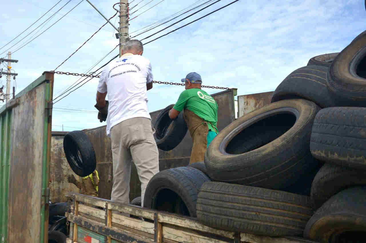 coleta pneus Residencial Caraíbas