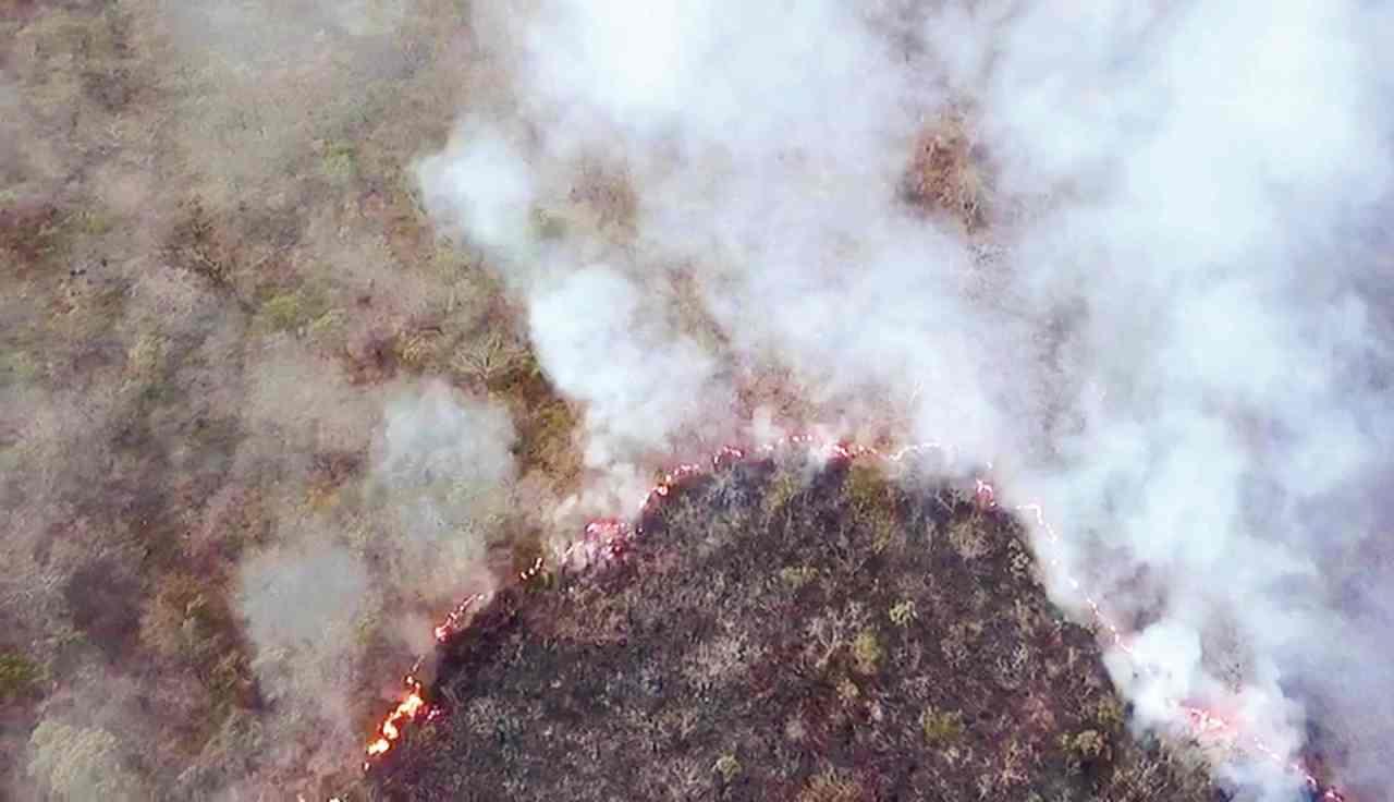 incêndio na Serra da Areia Aparecida