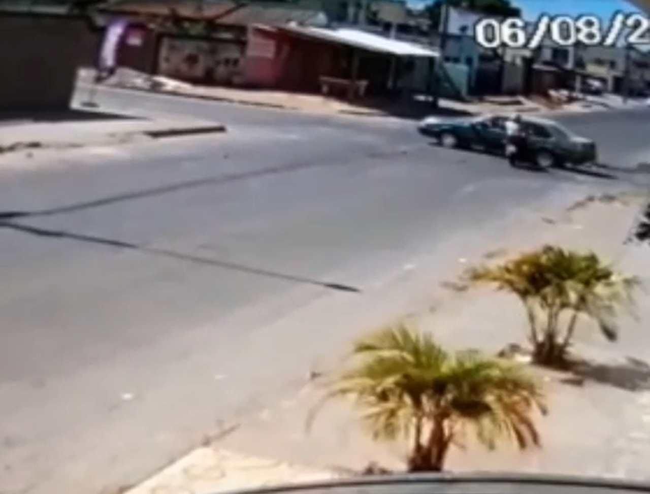 Motociclista acidente Aparecida