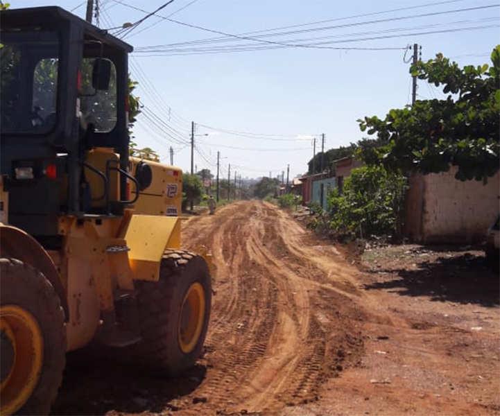 Ruas asfaltadas Retiro Bosque Jardim Miramar