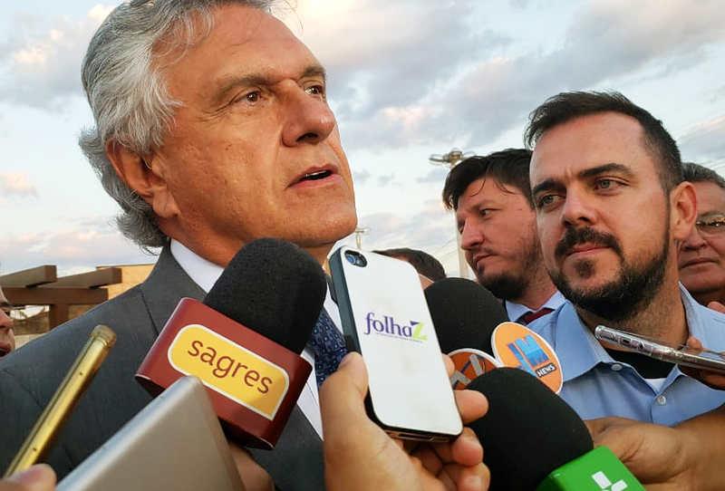 Caiado avalia como 'nobre' convite de Gustavo para evento em Aparecida | Foto: Folha Z