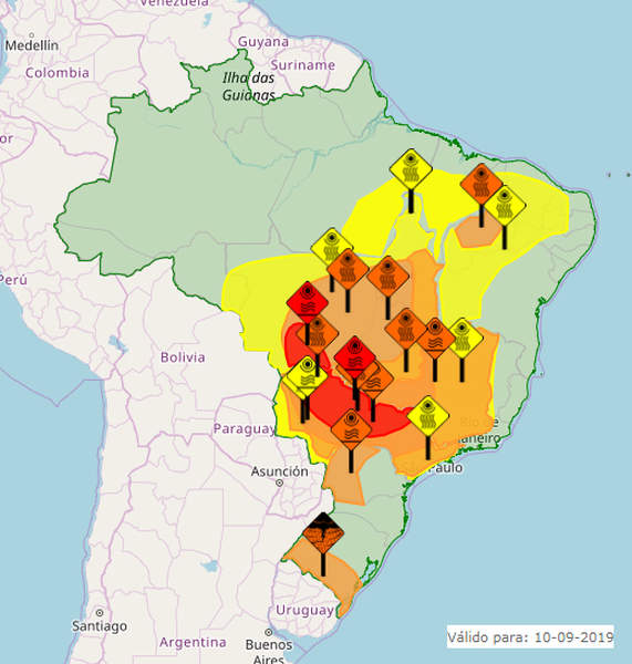 Instituto Nacional de Meteorologia (Inmet) emitiu aviso de perigo em Goiás devido à seca | Foto: Reprodução