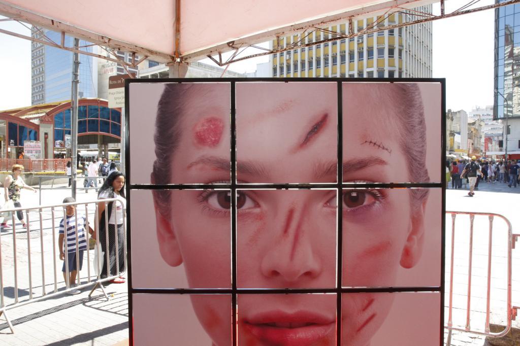 Campanha de Enfrentamento da Violência contra a Mulher em Porto Alegre-RS | Foto: Cristine Rochol