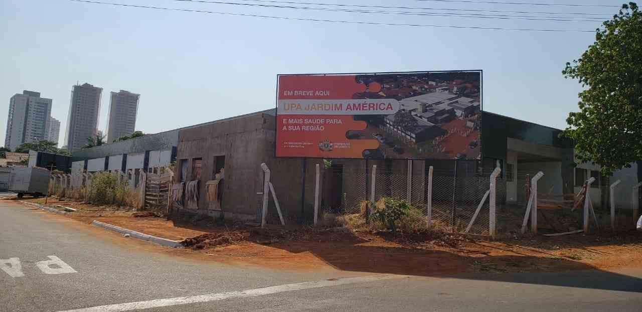 Placa entrega obras UPA Jardim América