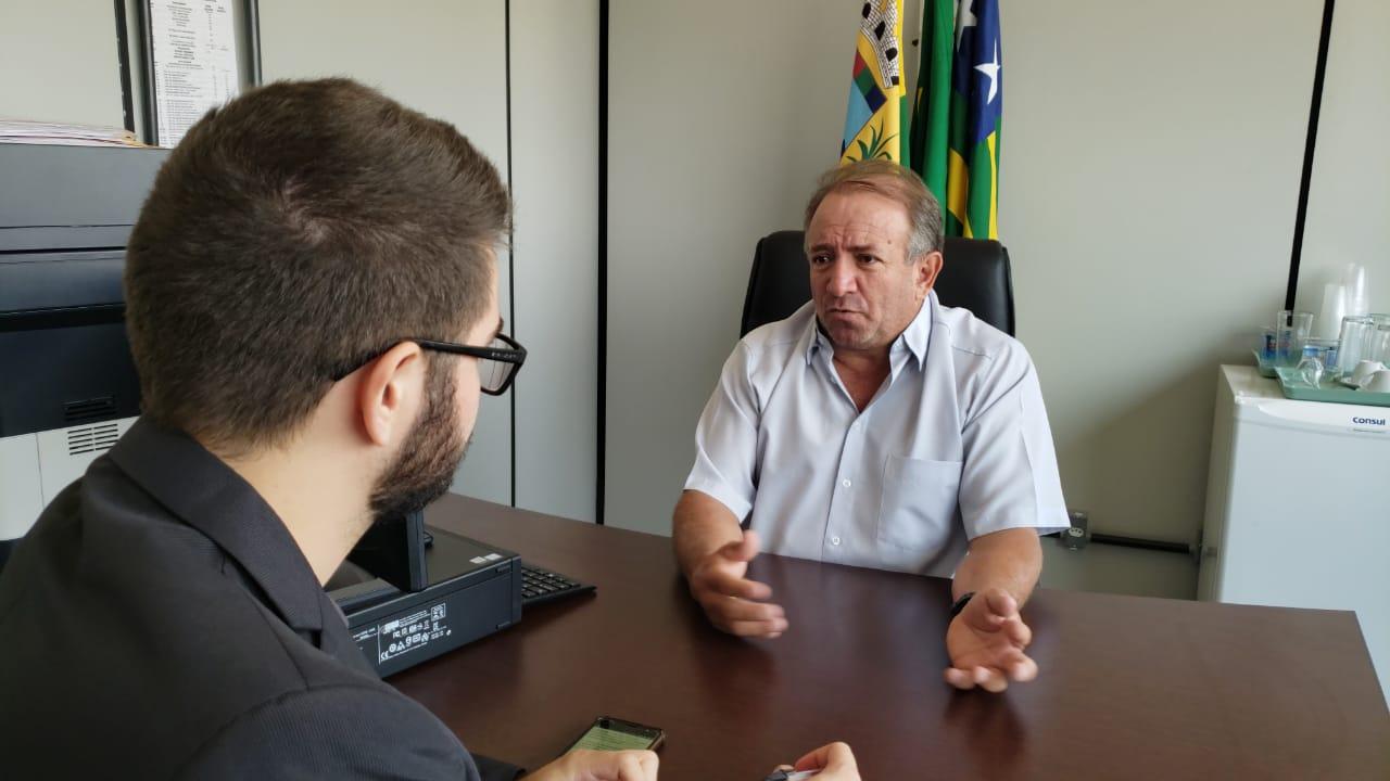 Presidente da Câmara Municipal, Vilmar Mariano (MDB) dá entrevista do Aparecida Sem Censura | Foto: Reprodução