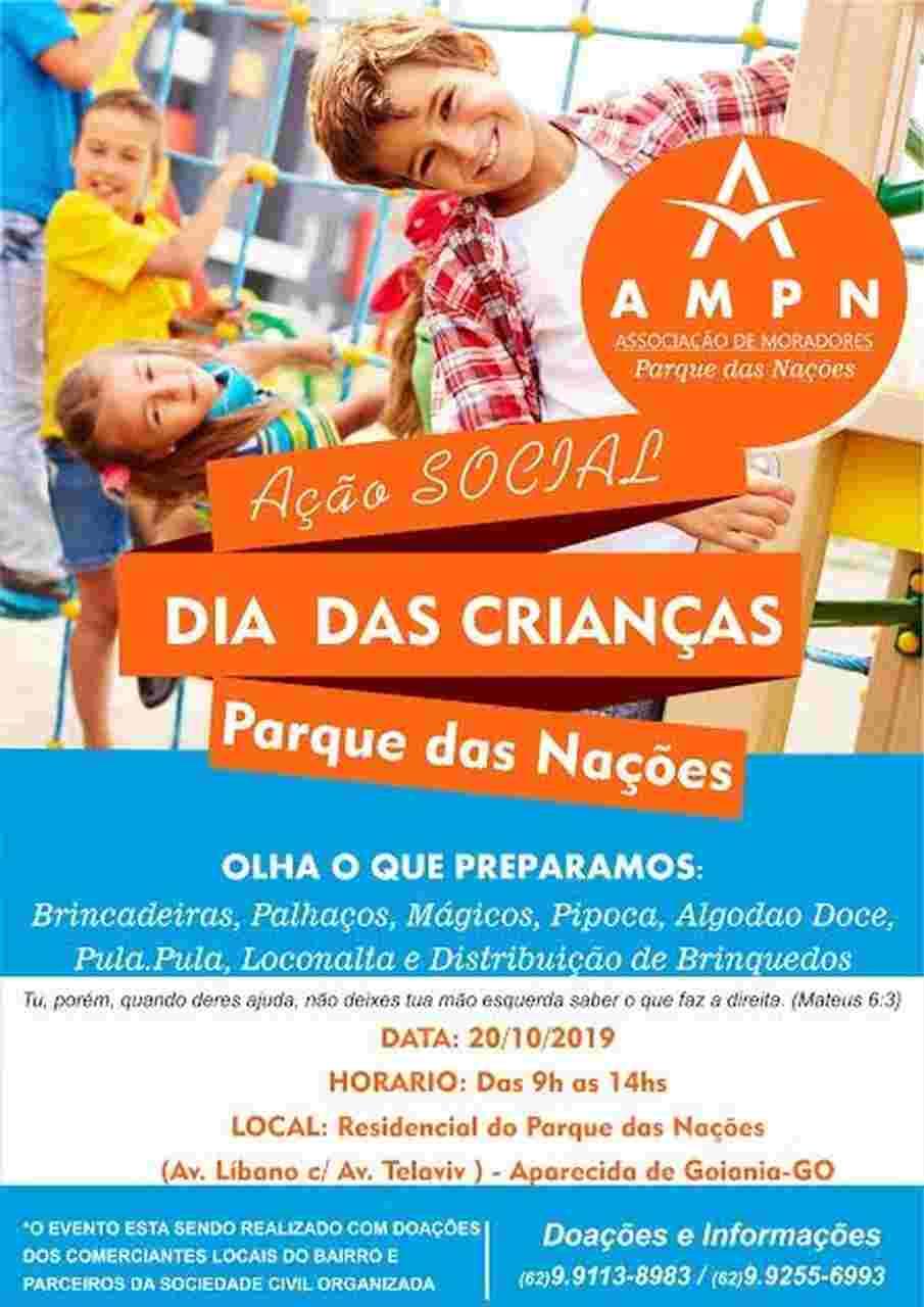 Ação social Dia das Crianças Parque das Nações