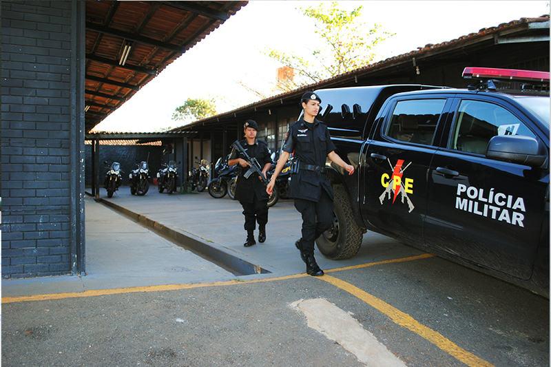 Comando de Policiamento Especializado da 43ª CIPM, em Aparecida | Foto: Folha Z