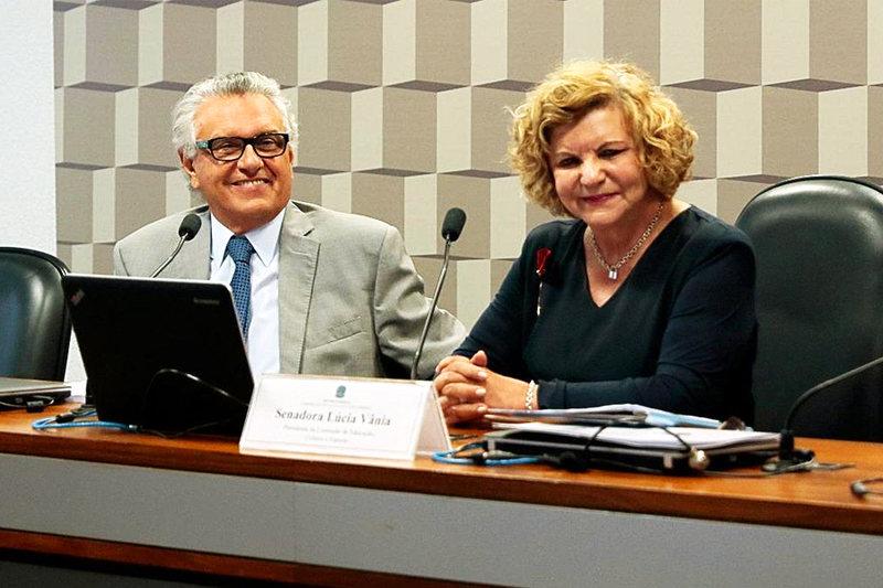 Ronaldo Caiado chamou Lúcia Vânia para assumir secretaria no Governo de Goiás | Foto: Reprodução