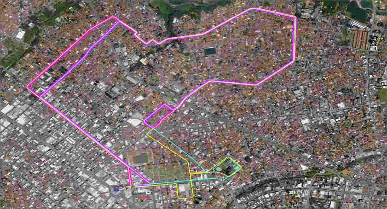 Mapa linha 160 Goiânia