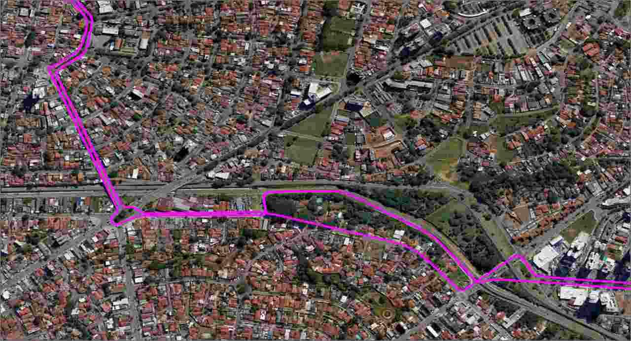 mapa linha 283 Senador Canedo