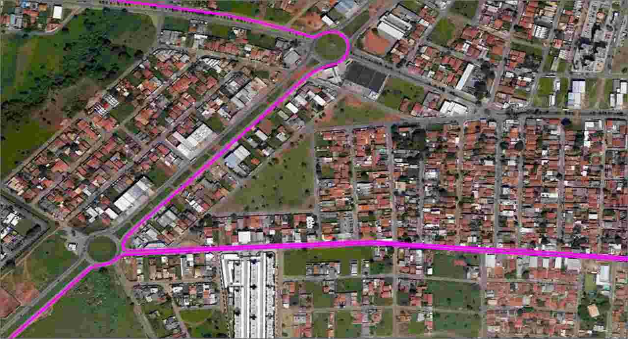 mapa linha 578 Goiânia