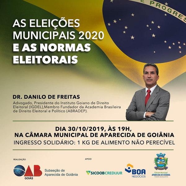 OAB de Aparecida faz evento de direito eleitoral gratuito para pré-candidatos   Foto: Divulgação