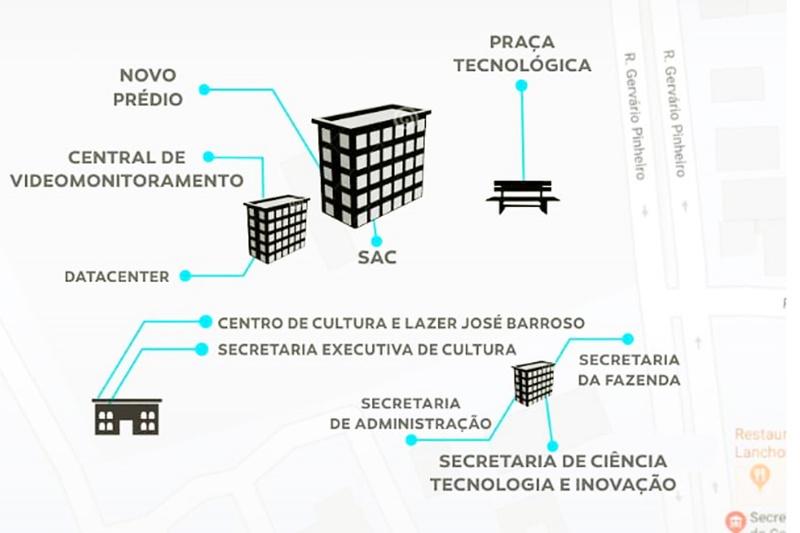Com 6 pavimentos, o prédio tem 8 mil m² | Foto: Divulgação