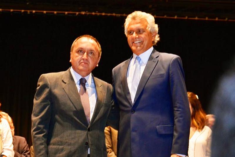 Secretário estadual de Segurança Pública Rodney Miranda e governador de Goiás Ronaldo Caiado | Foto: Divulgação
