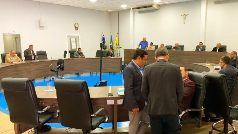 Plenário da Câmara de Aparecida em sessão ordinária desta quarta, 9 | Foto: Reprodução