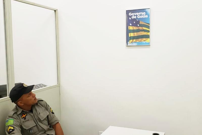 Foto do governador foi substituída pela bandeira de Goiás em repartições | Foto: Folha Z