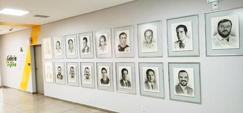 Galeria terá retratos de todos os prefeitos de Aparecida no Paço Municipal | Foto: Folha Z