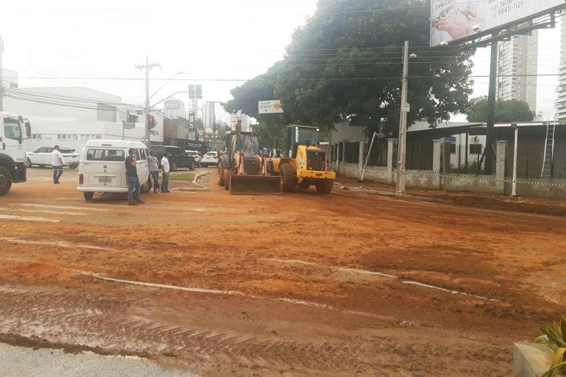 Ponto de alagamento entre as ruas 87, 132 e Avenida Cora Coralina, no Setor Sul, é o mais crítico de Goiânia | Foto: Rodrigo Czepak