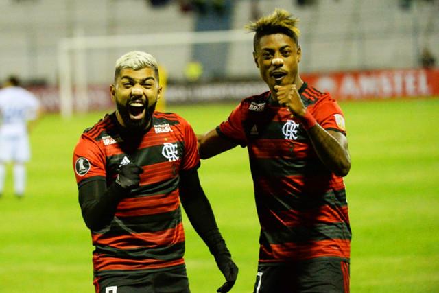 Gabigol e Bruno Henrique são destaques no ataque rubro-negro que encara o River Plate na final da Libertadores | Foto Alexandre Vidal / Flamengo