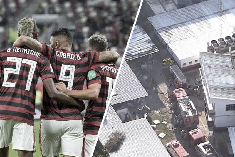 Incêndio que vitimou jovens atletas ainda marca ano vitorioso do Flamengo no futebol   Foto: Montagem