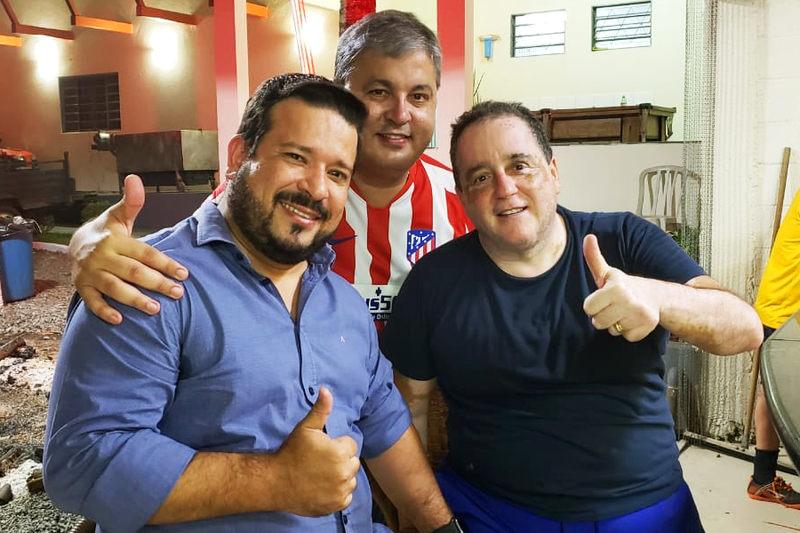 Procurador geral de Aparecida de Goiânia, Fábio Camargo; Sizenando Ferro; e o empresário Edminho Pinheiro | Foto: Folha Z