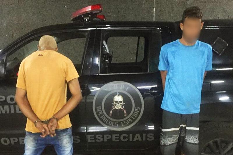 1 morreu e 2 foram presos em ação do Bope na região noroeste de Goiânia   Foto: Divulgação / PMGO