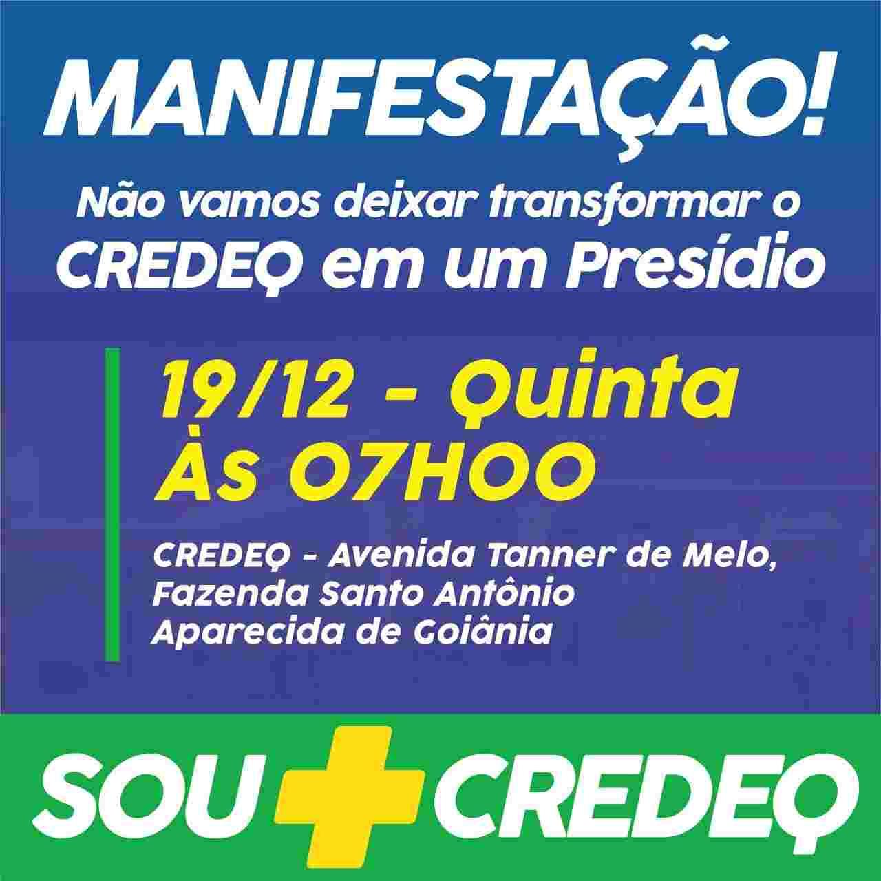 Flyer protesto Credeq