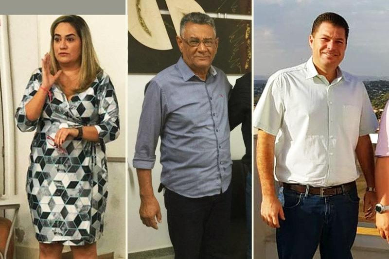 Em mais mudanças, Gustavo Mendanha realoca Naira Andrade, Tarcísio Francisco e Adriano Montovani | Fotos: Reprodução