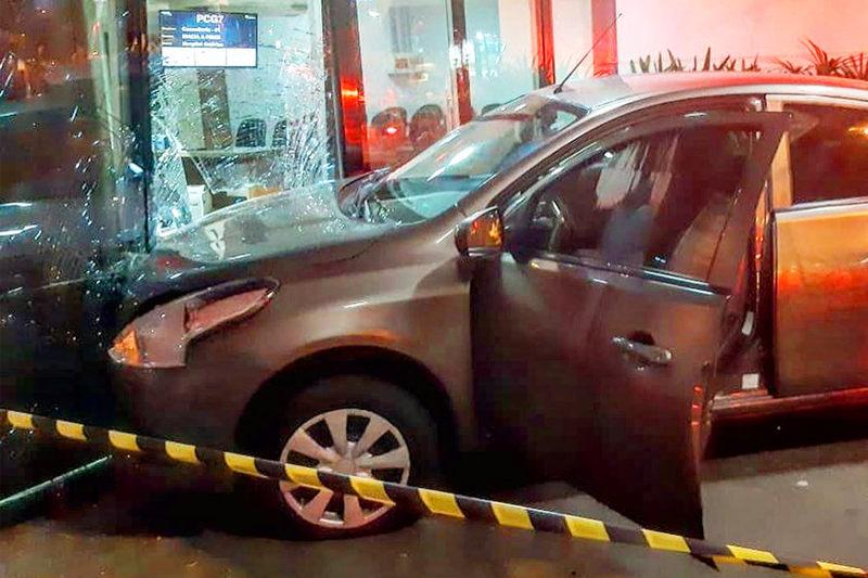 Motorista de aplicativo dirigiu esfaqueado até um hospital no Setor Marista, em Goiânia | Foto: Leitor / FZ