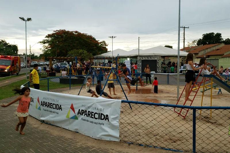 Praça foi inaugurada no setor Parque Rio das Pedras | Foto: Folha Z