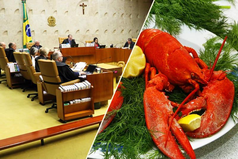 TCU libera licitação que prevê refeições do STF com lagostas e vinhos premiados   Foto: Montagem / Fotos Públicas