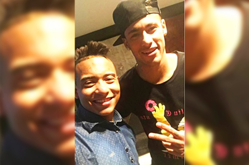 Richard Luca e Neymar | Foto: Arquivo pessoal