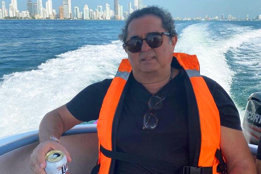 Um dos últimos registros de Bezinho, durante passeio de barco na Colômbia, na 3ª feira (25) | Foto: Arquivo Pessoal