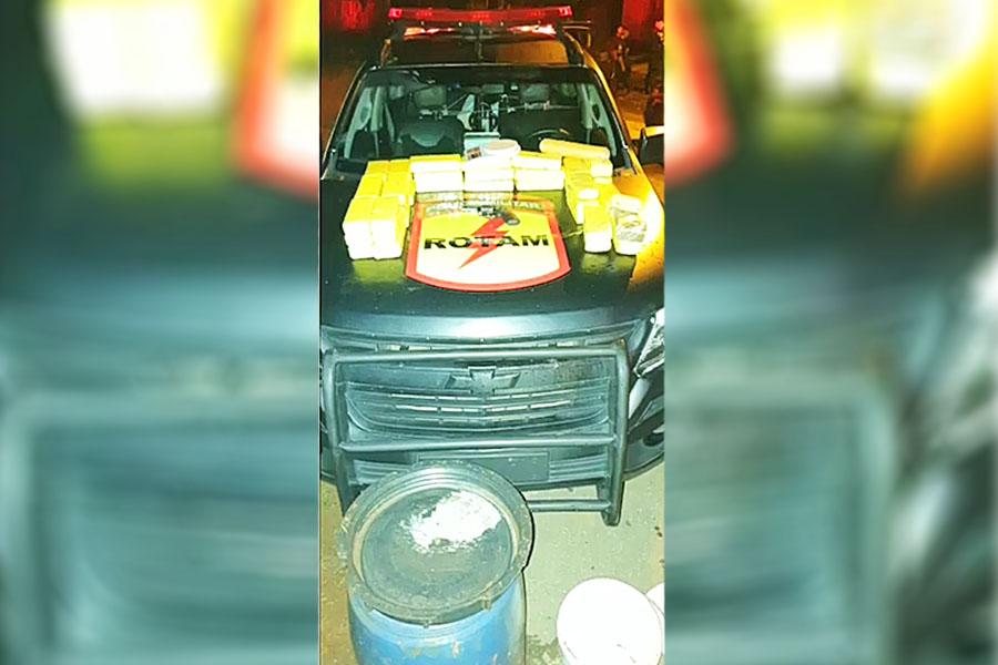 Suspeito de tráfico morreu após confronto com a Rotam no Jardim Olímpico, em Aparecida | Foto: Divulgação / PM-GO