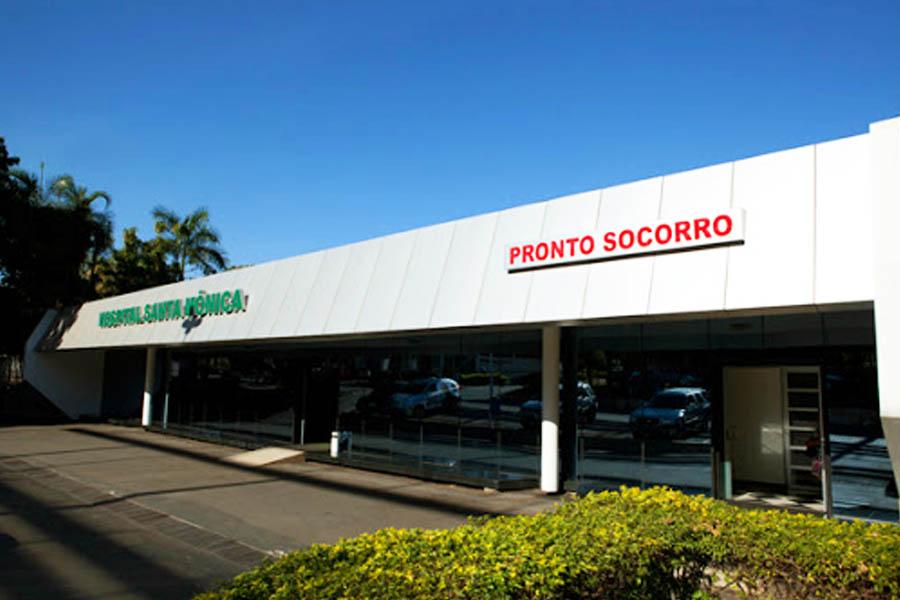 Hospital Santa Mônica, em Aparecida de Goiânia   Foto: Reprodução