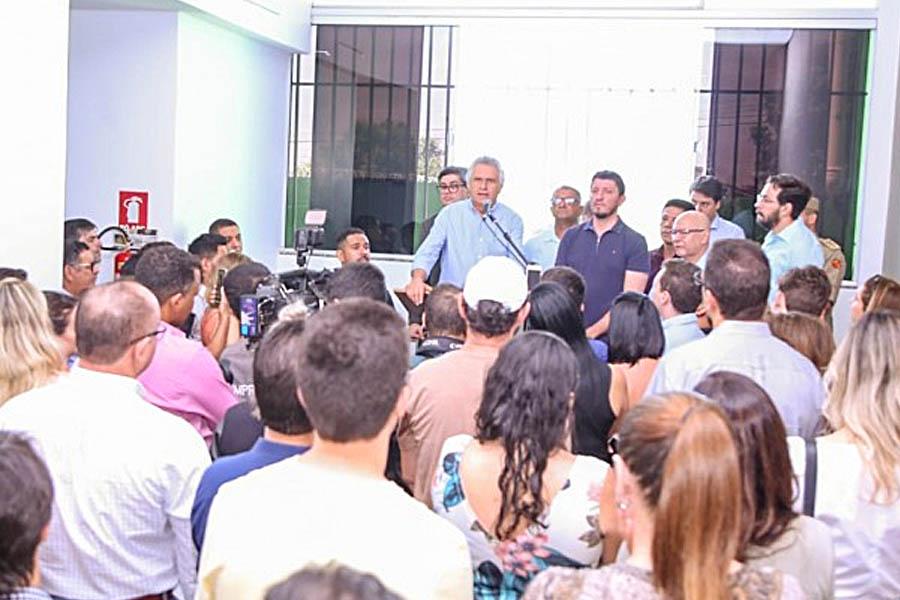 Aparecida foi a primeira cidade a receber o projeto Ipasgo Clínicas. Na foto, governador Ronaldo Caiado na inauguração da unidade, em outubro de 2019   Foto: Divulgação