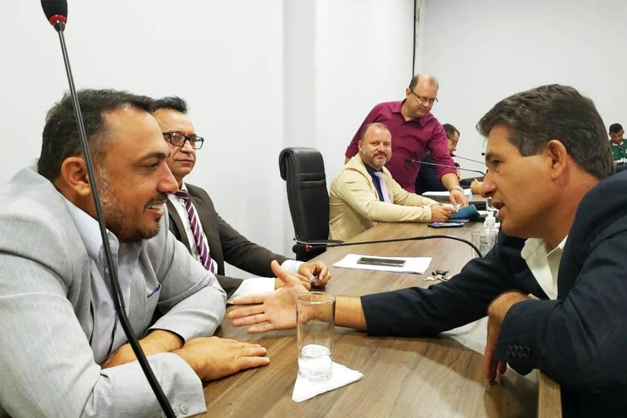 Na Câmara, André Nascimento, Ataídes Neguinho, Fábio Ideal e Rosildo Manoel   Foto: Folha Z