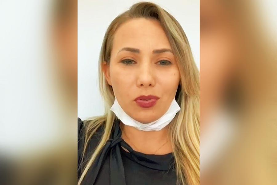 Diretora da Associação dos Feirantes de Aparecida de Goiânia (Afag), Camila Rosa tem gravado vídeos nas redes sociais cobrando soluções para a situação da categoria durante a quarentena do coronavírus   Foto: Reprodução / Instagram