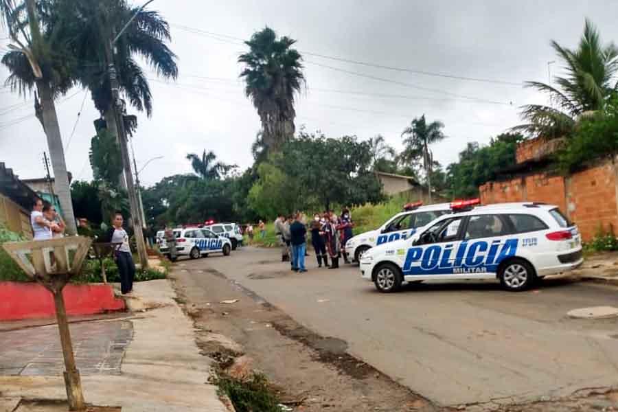 Homicídio no Conjunto Estrela do Sul, em Aparecida de Goiânia | Foto: Leitor / FZ