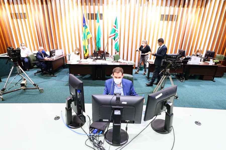 Sessão ordinária remota na Assembleia Legislativa de Goiás | Foto: Ruber Couto