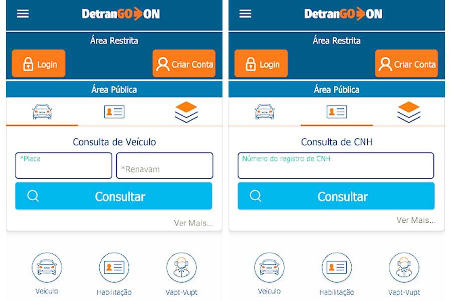 Aplicativo Detran GO ON torna quase todos os seviços do órgão on-line | Foto: Divulgação