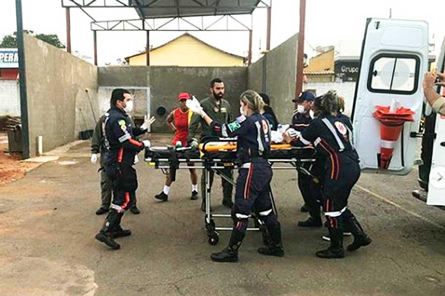 Samu atua em resgate de criança afogada | Foto: Divulgação/CBM-GO