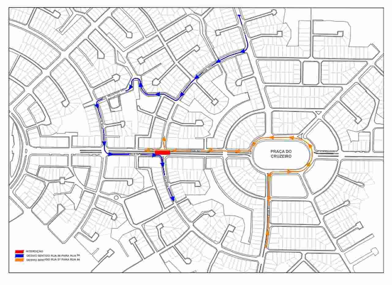 mapa desvio rua 104 Goiânia