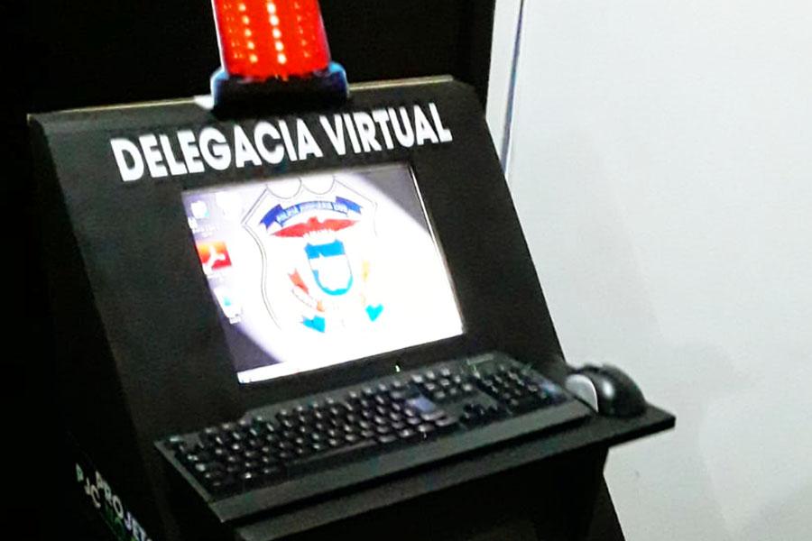 Cabine de Auto Atendimento idealizado por agentes da Delegacia de Água Boa   Foto: Divulgação/PC-MT