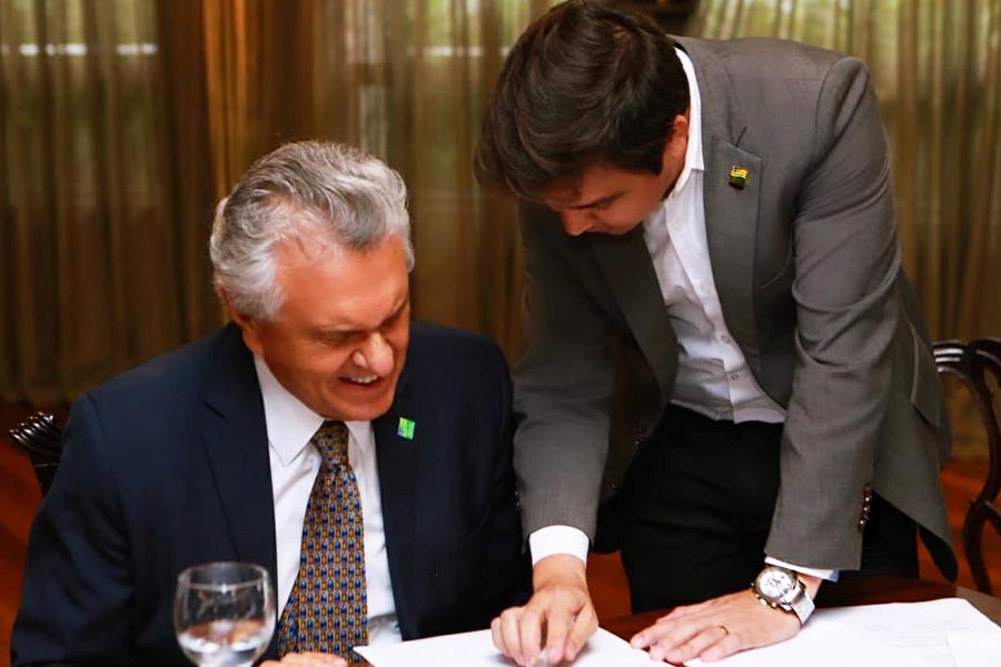 Ronaldo Caiado e Roger Seabra | Foto: Reprodução