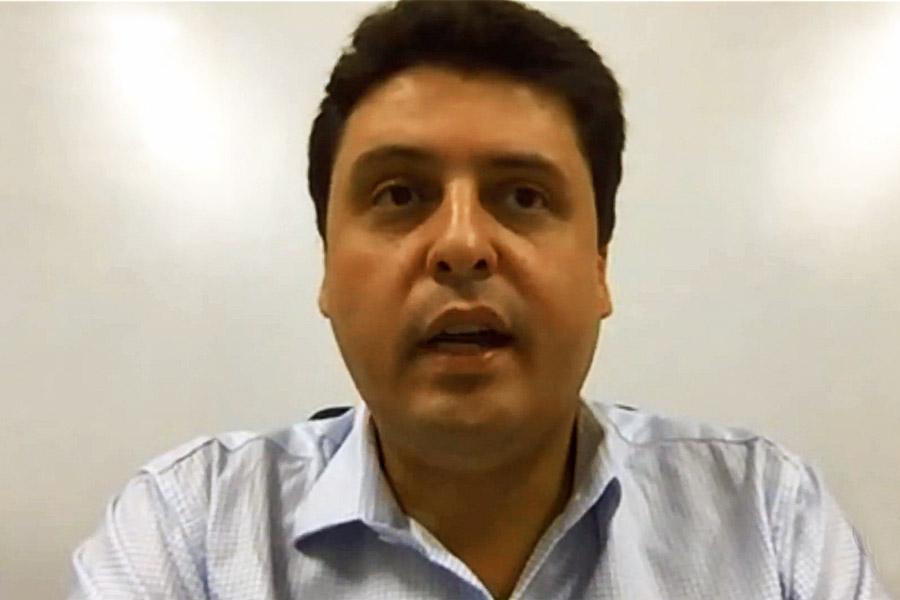 Secretario de Saúde de Aparecida de Goiânia, Alessandro Magalhães | Foto: Reprodução