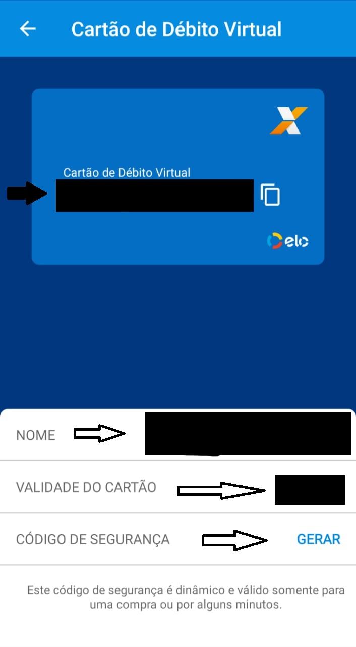 dados cartão débito virtual Caixa Tem