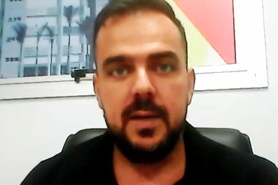 Em reunião com Caiado, Mendanha diz que fechará a cidade caso 70% dos leitos da cidade sejam ocupados | Foto: Reprodução