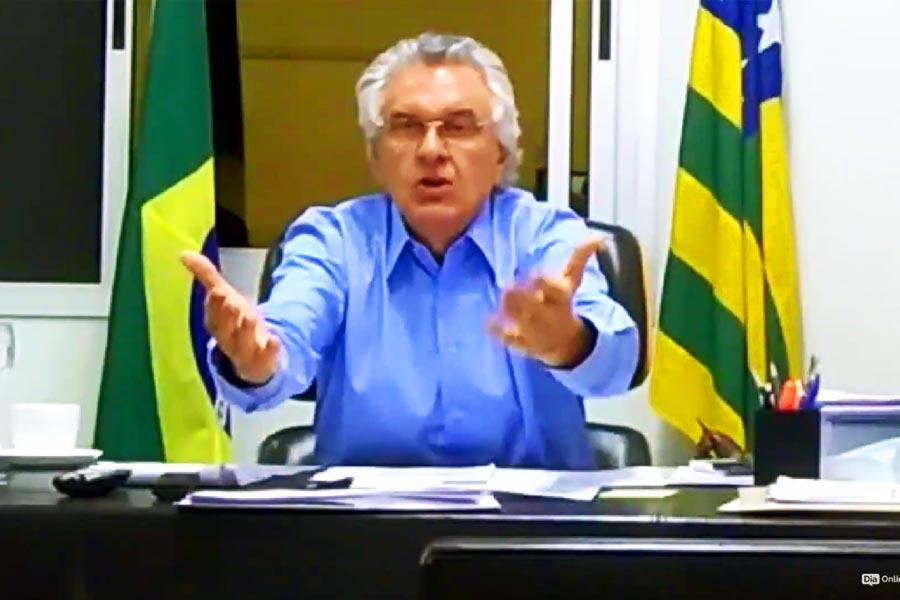 Ronaldo Caiado comanda conferência com prefeitos de 32 municípios | Foto: Reprodução