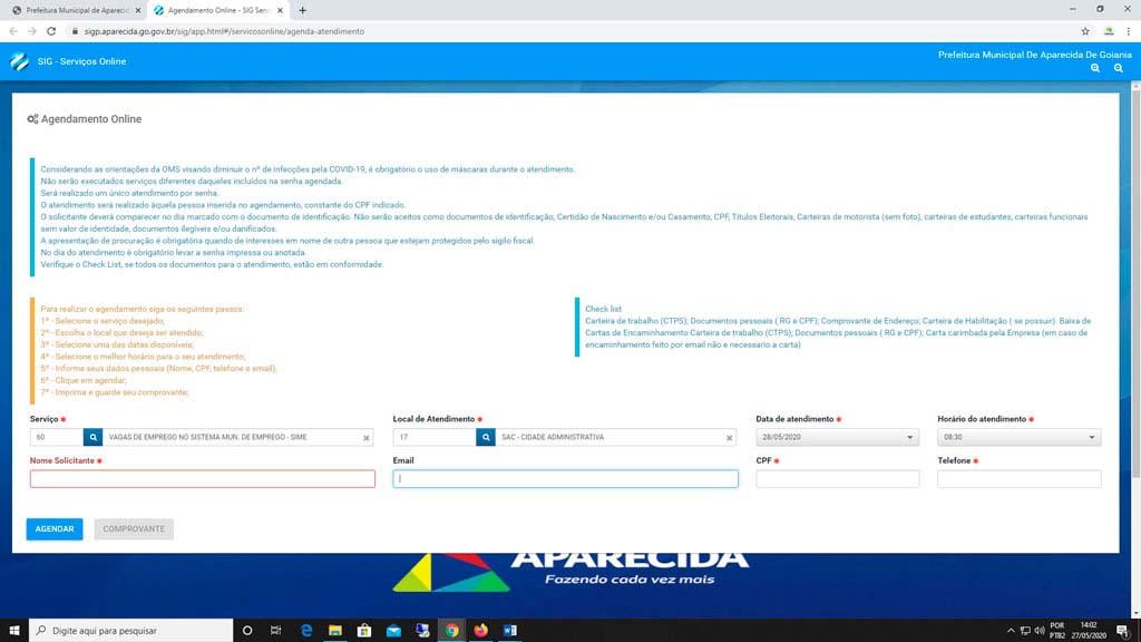 Plataforma online para cadastramento de currículo integra o Espaço do Trabalhador da Secretaria de Trabalho | Foto: Reprodução